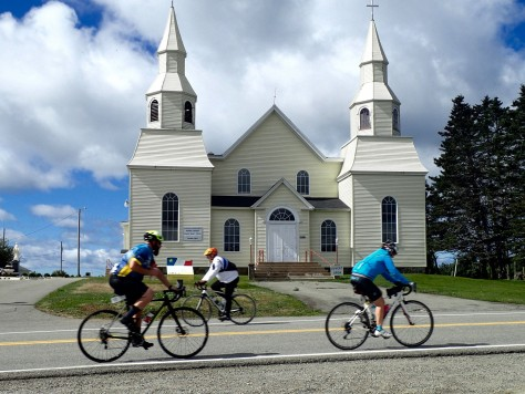 Eglise St. Alphonse During Gran Fondo   Stacy Comeau